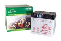 Leoch Y60N30A - Dry Charged Motorcycle Battery + Acid Pack